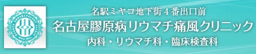 名駅ミヤコ地下街4番出口前 名古屋膠原病リウマチ痛風クリニック 内科・リウマチ科・臨床検査科